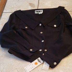 DKNY short black denim jacket